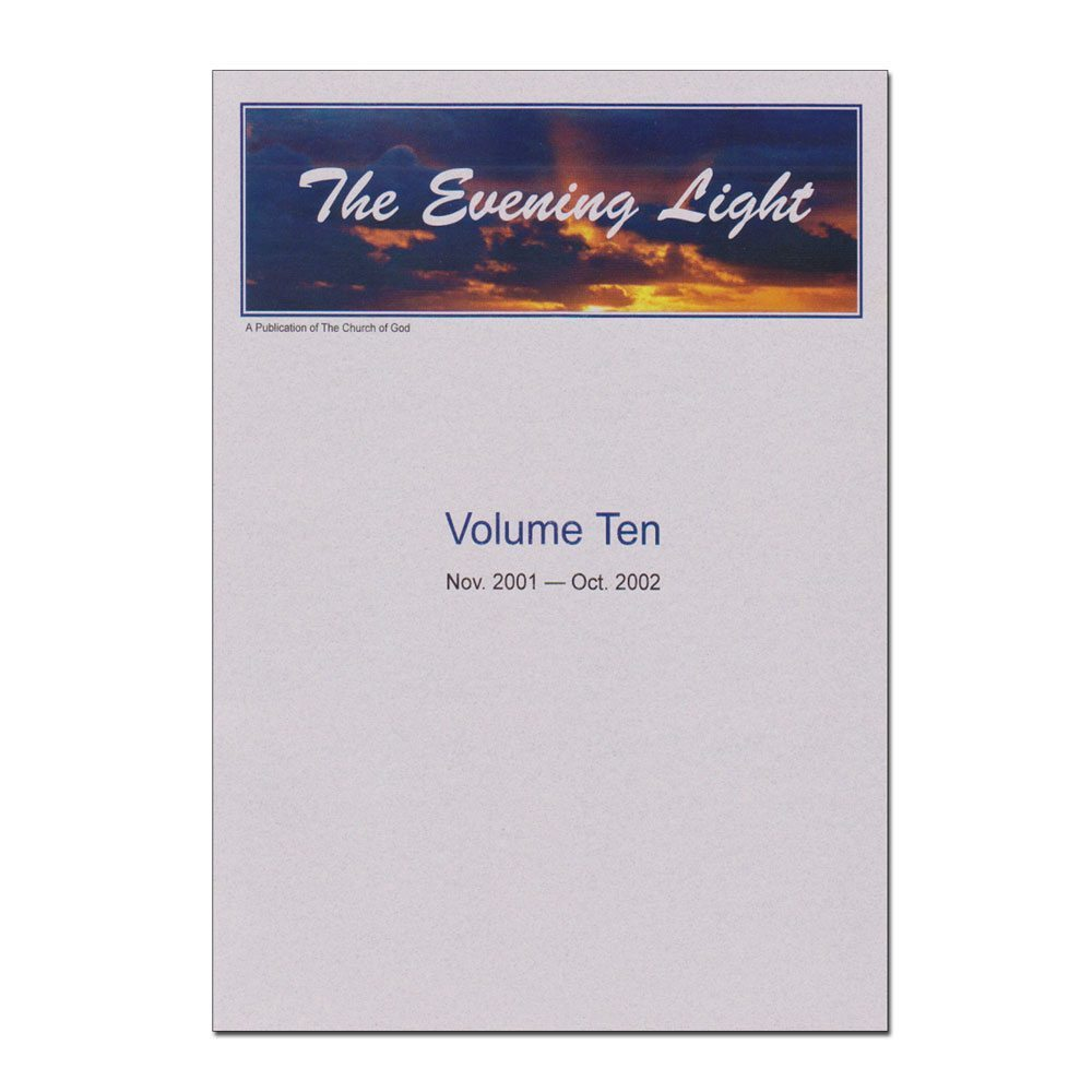 The Evening Light: Volume 10 (2001-2002)