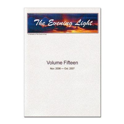 The Evening Light: Volume 15 (2006-2007)