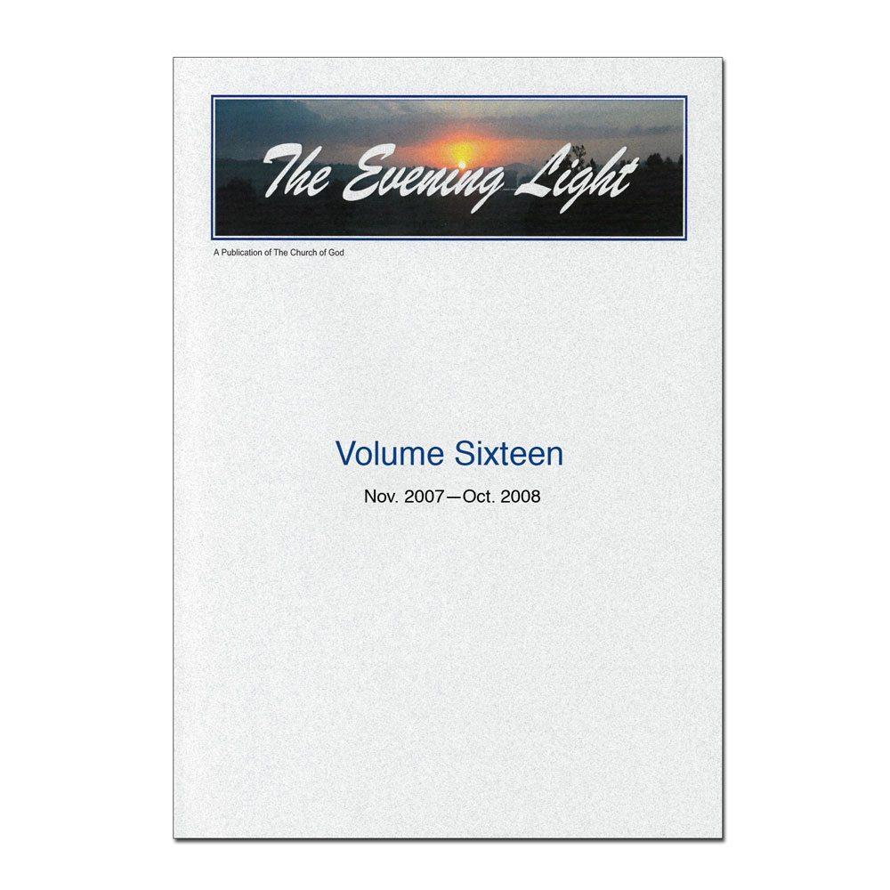 The Evening Light: Volume 16 (2007-2008)