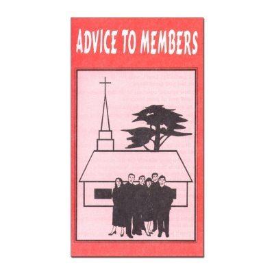 Advice to Members