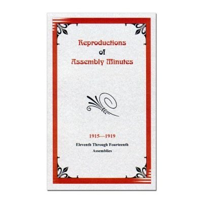 11th-14th Assembly Minutes (1915-1919)