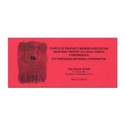 CPMA Report Book