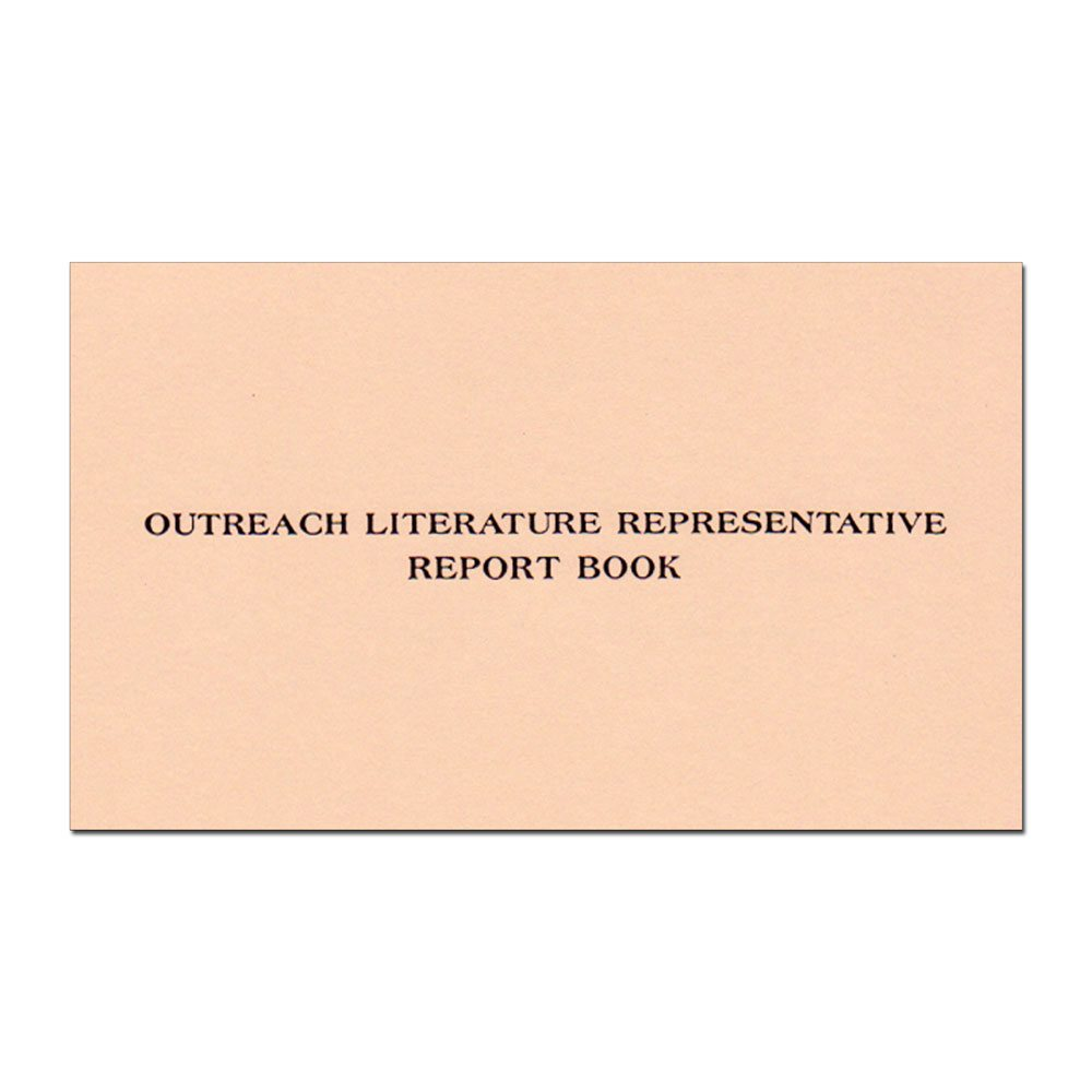 Outreach Literature Report Book