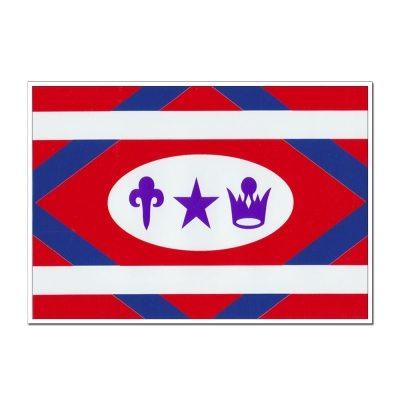 """Church Flag Decal (7""""x10"""")"""