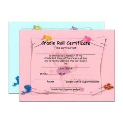Cradle Roll Enrollment Certificate