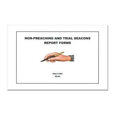 Non-Preaching and Trial Deacons Report Book