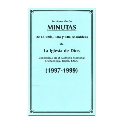 92nd-94th Assembly Minutes (1997-1999) - Spanish